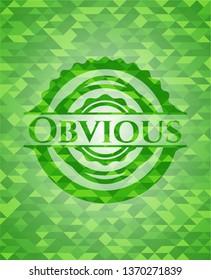 Obvious realistic green mosaic emblem