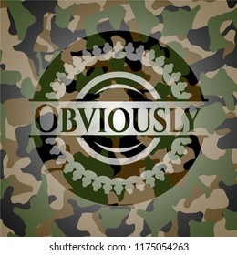 Obviously on camouflage pattern