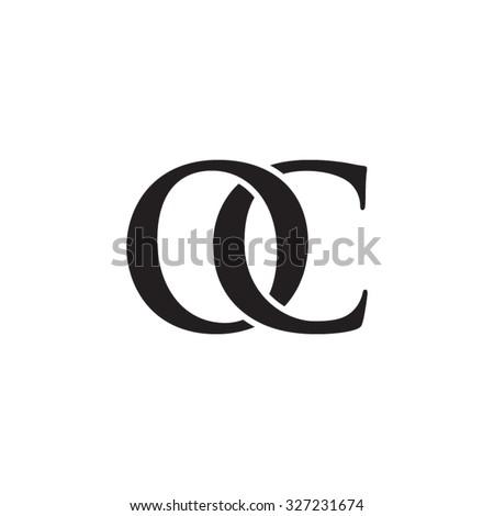 Oc Chain Letter Monogram Stock Vector Royalty Free 327231674