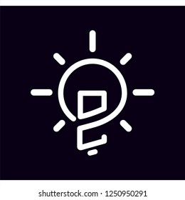 OC Initial Letter with creative bulb Logo vector element. Initial letter bulb Logo Template