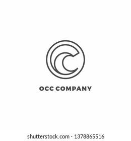 OC Initial Letter Logo Design Inspiration