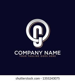 OC initial logo design, company brand in retro style, strong brand market