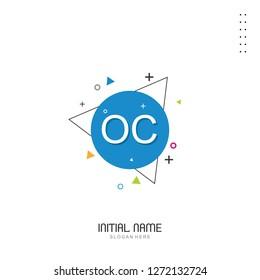 OC Initial logo template vector