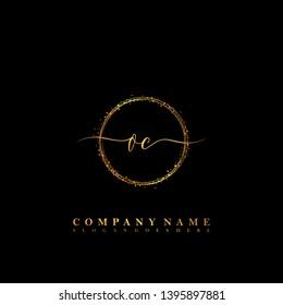 OC Initial luxury handwriting logo vector