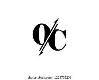 OC initials logo sliced