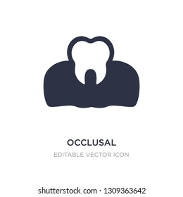 occlusal icon on white background. Simple element illustration from Dentist concept. occlusal icon symbol design.
