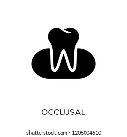 Occlusal icon. Occlusal symbol design from Dentist collection. Simple element vector illustration on white background.