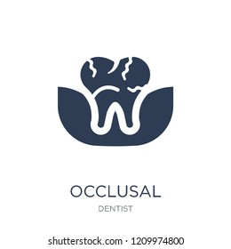 Occlusal icon. Trendy flat vector Occlusal icon on white background from Dentist collection, vector illustration can be use for web and mobile, eps10