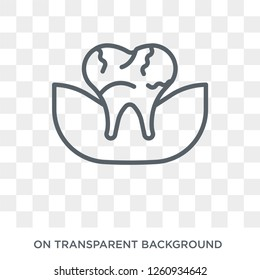 Occlusal icon. Trendy flat vector Occlusal icon on transparent background from Dentist collection. High quality filled Occlusal symbol use for web and mobile