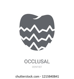 Occlusal icon. Trendy Occlusal logo concept on white background from Dentist collection. Suitable for use on web apps, mobile apps and print media.