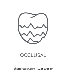 Occlusal linear icon. Modern outline Occlusal logo concept on white background from Dentist collection. Suitable for use on web apps, mobile apps and print media.