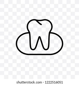 Occlusal vector linear icon isolated on transparent background, Occlusal transparency concept can be used for web and mobile