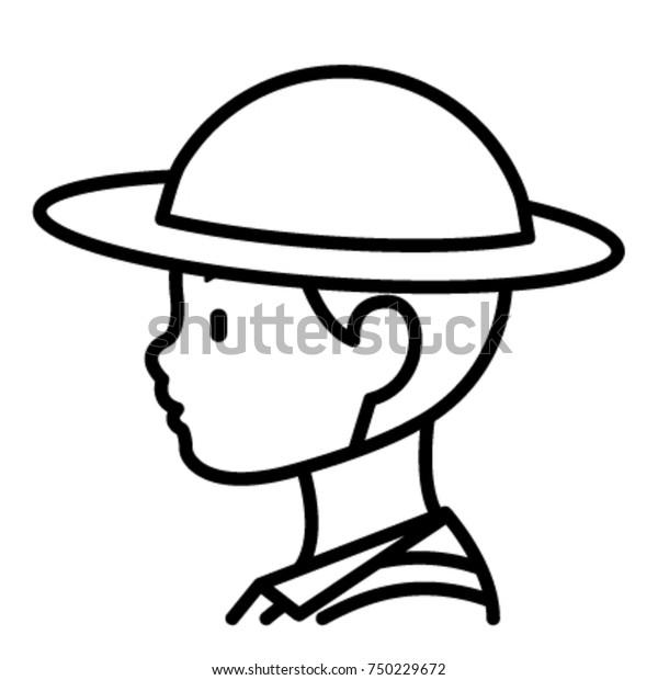 Black White Cartoon Vector Illustration Funny Stock Vector (Royalty Free)  144632555