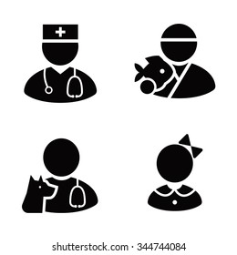 Occupations vector icons