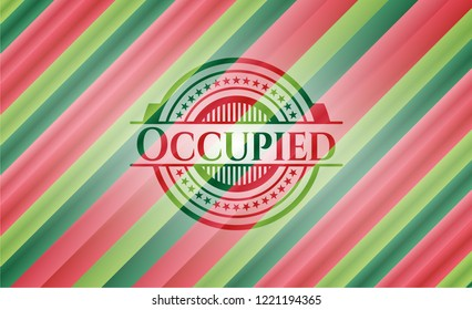 Occupied christmas emblem.