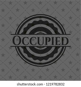 Occupied dark badge