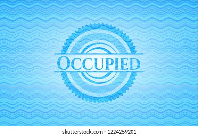 Occupied water representation badge.