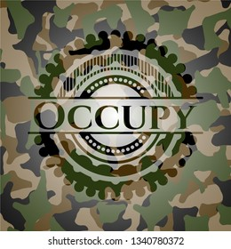 Occupy on camouflaged texture