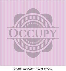 Occupy realistic pink emblem