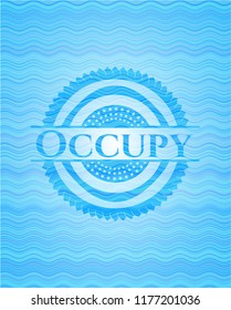 Occupy water representation badge background.