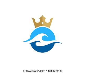 Ocean King Logo Design Element