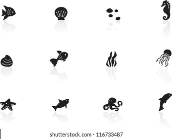 Ocean life icons