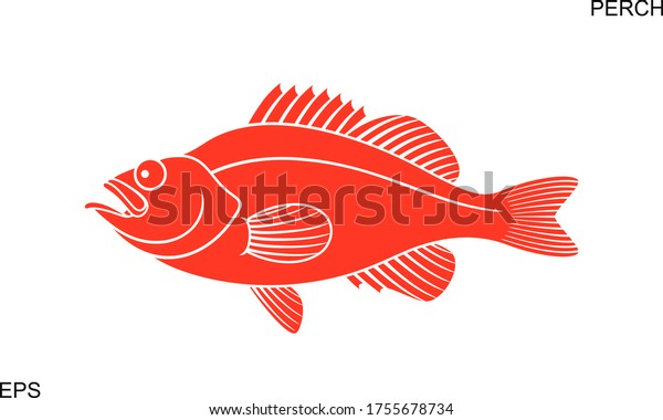Ocean Perch logo. Isolated ocean perch on white background
