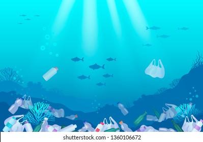 Ocean pollution plastic toxic waste
