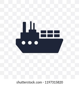 Ocean transportation transparent icon. Ocean transportation symbol design from Delivery and logistic collection.