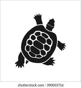 Ocean turtle simple icon on white background