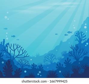 Ocean underwater theme background - eps10 vector illustration.