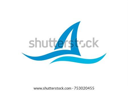 ocean wave nature logo template