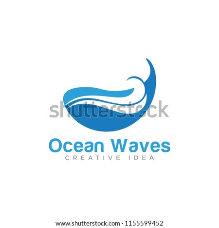 ocean waves logo template stock vector royalty free 1155599452