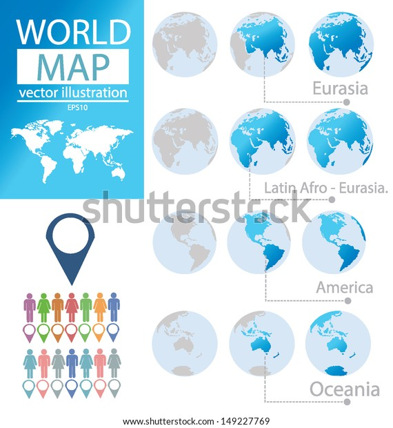 Oceania Eurasia America Latin Afroeurasia World Stock Vector ... on map of ur, map of british isles, map of european russia, map of australia, map of antarctica, map of eurasia with countries, map of americas, map of northern eurasia countries, map of africa, map of continent, map of oceania, map of eurasia only,
