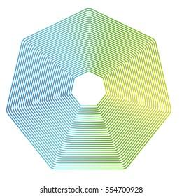 Octagon figure Geometric lines gradation Modifiable