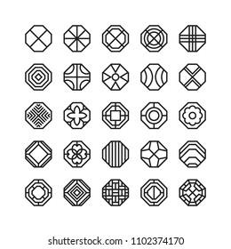 octagon geometric vector icon , ornament