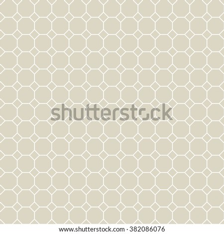 Octagon Grid Design Vector Seamless Pattern Stock Vector (Royalty ...