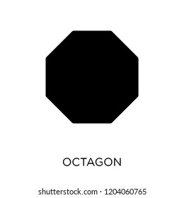 Octagon icon. Octagon symbol design from Geometry collection. Simple element vector illustration on white background.