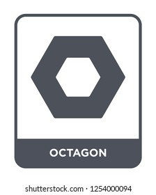 octagon icon vector on white background, octagon trendy filled icons from Geometry collection, octagon simple element illustration