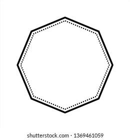 octagon logo template . blank octagon badge . blank octagon vector . craft logo design template