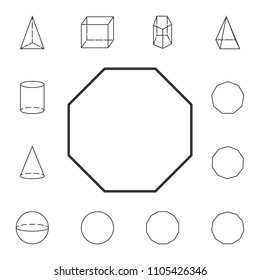 octagon outline icon. Detailed set of geometric figure. Premium graphic design. One of the collection icons for websites, web design, mobile app on white background