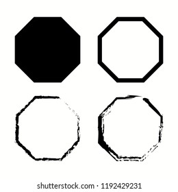 Octagon pack isolated. Geometry octagonal eight sided polygon. Vector illustration