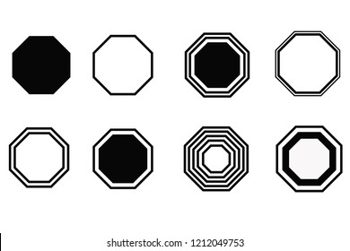 octagon vector abstract