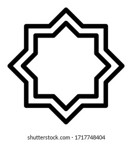 octagonal islamic symbol vector icon