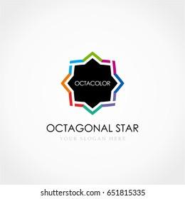 Octagonal Star Colorful Logo