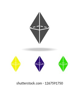 octahedron colored icons. Elements of Geometric figure colored icons. Can be used for web, logo, mobile app, UI, UX