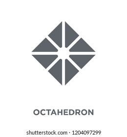 Octahedron icon. Octahedron design concept from Geometry collection. Simple element vector illustration on white background.