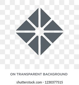 Octahedron icon. Octahedron design concept from Geometry collection. Simple element vector illustration on transparent background.