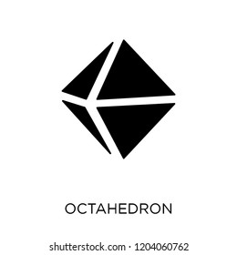 Octahedron icon. Octahedron symbol design from Geometry collection. Simple element vector illustration on white background.
