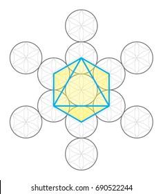Octahedron icon vector